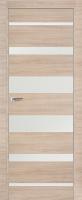 Дверь 18Z Капучино Кроскут, стекло Белый лак