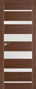 Дверь 18Z Малага Черри Кроскут, стекло Белый лак