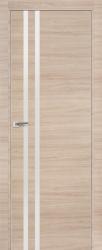 Дверь 19Z Капучино Кроскут, Белый глянец