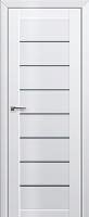 Дверь 71L Белый люкс, графит