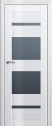 Дверь 72L Белый люкс, графит