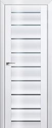 Дверь 76L Белый люкс, графит