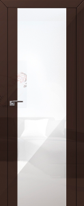 Дверь 8L Терра, белый триплекс