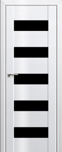 Дверь 29L Белый люкс, черный триплекс