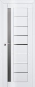 Дверь 37L Белый люкс, графит