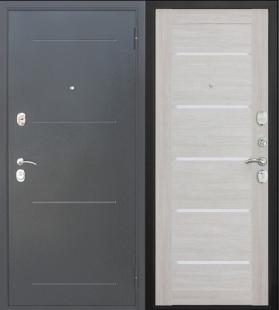 Дверь Гарда Муар Царга Лиственница Беж входная металлическая
