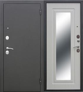 Гарда  Царское зеркало Муар белый Ясень дверь входная металлическая