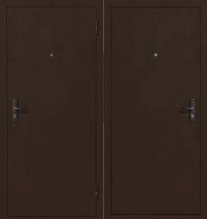 Дверь Стройгост 5-1 Металл/Металл, Медь антик, внутреннее открывание
