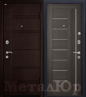 Дверь МеталЮр М17, грей мелинга, матовое стекло