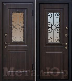 Дверь МеталЮр М32, венге