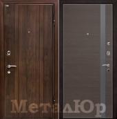 Дверь МеталЮр М6, грей кроскут - серебряный лак