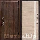 Дверь МеталЮр М6, капучино кроскут - перламутровый лак