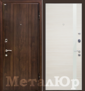 Дверь МеталЮр М6, эшвайт кроскут - белый лак