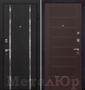 Дверь МеталЮр М8, Темно-коричневый