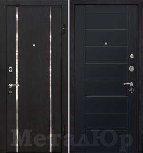 Дверь МеталЮр М8, Черный матовый