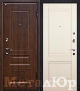 Дверь МеталЮр М9, Магнолия сатинат