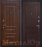 Дверь МеталЮр М9, Темно-коричневый