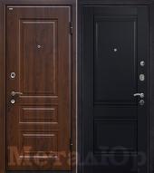 Дверь МеталЮр М9, Черный матовый