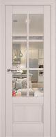 Дверь 103X Пекан белый, прозрачное